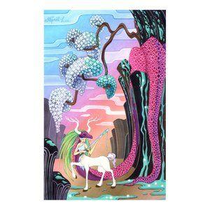 dragon slayer centaur illustration art print